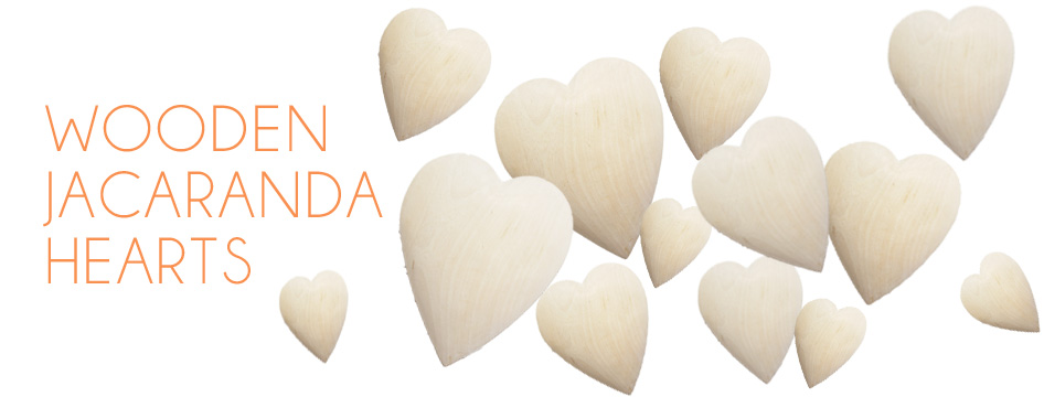 www.bonsela.co.za – Wooden Jacaranda Hearts