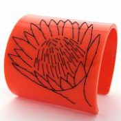 ORANGE PERSPEX CUFF – Protea Flower Stitch
