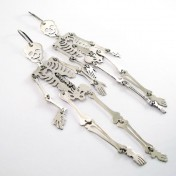 SKELETON EARRINGS – Silver