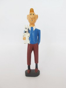 WOODEN TINTIN CHARACTER