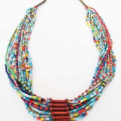 NUPE TRIBE NECKLACE – Multicoloured Beads