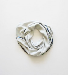 AFRICAN EDGE SCARF – Pastel Blue