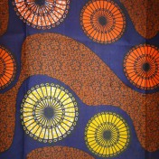 Zambian Chitenge – Brown/Orange