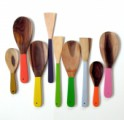 COLOURFUL WOODEN SPOONS