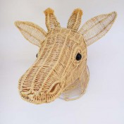 Straw Wire Animal Trophy Head – Giraffe