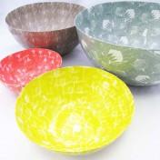 Papier-Mâché Fynbos Bowls – Set of 4