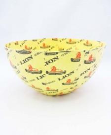 Papier-Mâché Lion Bowl