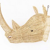 Straw Wire Animal Trophy Head – Rhino