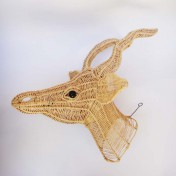 Straw Wire Animal Trophy Head – Springbok