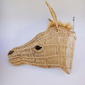 Straw Wire Animal Trophy Head – Zebra