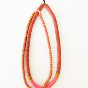COCONUT NECKLACE – Orange Pink Yellow – Set of 2