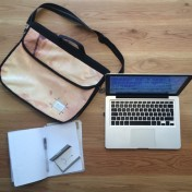 Upcycled Billboard Vinyl Laptop Bag