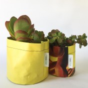 Upcycled planter – Special offer – Yellow size S & M – no strap – Growbag