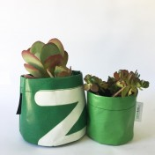 Upcycled planter – Special offer – Green size S & M – no strap – Growbag