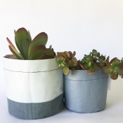 Upcycled planter – Special offer – Grey size S & M – no strap – Growbag