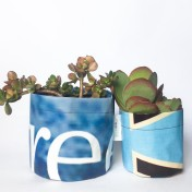 Upcycled planter – Special offer – Blue size S & M – no strap – Growbag