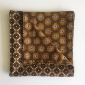 Reversible ShweShwe Napkins – Set of 2 – Brown