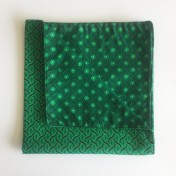 Reversible ShweShwe Napkins – Set of 2 – Green