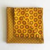Reversible ShweShwe Napkins – Set of 2 – Yellow
