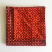 Reversible ShweShwe Napkins – Set of 2 – Red