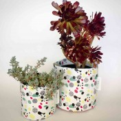 Upcycled planter – Limited Edition – Design print range – Dotty Bright – size M – Growbag