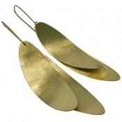 FEATHER EARRINGS – Gold