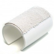 WHITE PERSPEX CUFF – Beaded