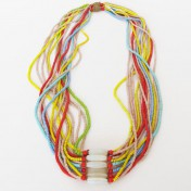 NUPE TRIBE NECKLACE – Multicoloured Strands