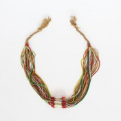 NUPE TRIBE NECKLACE – Multicoloured Beaded Strands