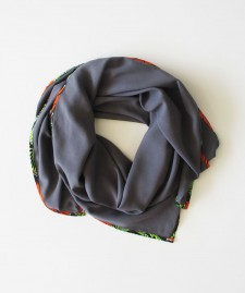 AFRICAN EDGE SCARF – Charcoal
