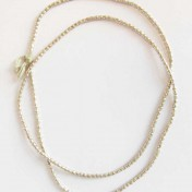 SILVER BEADS NECKLACE – M