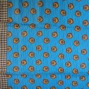 Zambian Chitenge – Blue/Yellow