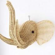 Wire Animal Trophy Head – Elephant