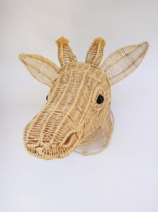 Wire Animal Trophy Head – Giraffe