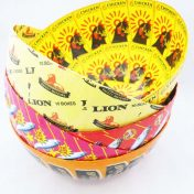 Papier-Mâché Lion Matches & Lucky Star Bowls