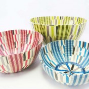 Papier-Mâché African Arrow Bowls – Set of 3