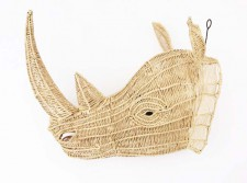 Wire Animal Trophy Head – Rhino