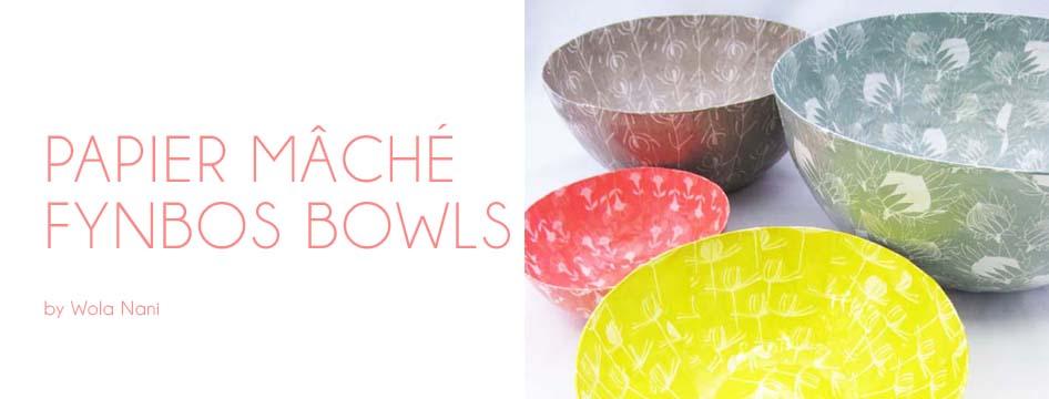 bonsela.co.za – Papier-Mâché Fynbos Bowls