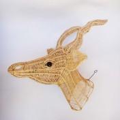 Wire Animal Trophy Head – Springbok