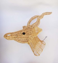 Wire Animal Trophy Head – Springbok