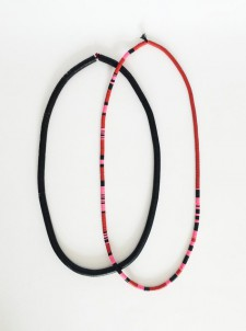 Coconut Necklaces – Pink Red Black – Set of 2