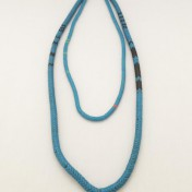 Snake Bead Necklaces – Blue – Set of 2 (2 lengths)