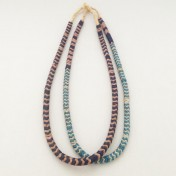Snake Bead Necklaces – Purple/Blue – Set of 2