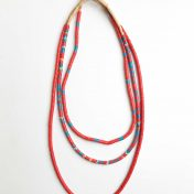 Snake Bead Necklaces – Red Blue – Set of 3