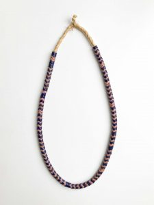 Snake Bead Necklace – Purple Pink