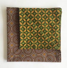 Reversible ShweShwe Napkins – Set of 2 – Green and Brown