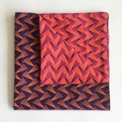 Reversible ShweShwe Napkins – Set of 4 – Pink and Purple