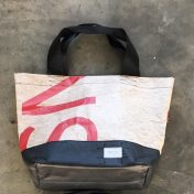 Upcycled Billboard Vinyl Shopper Bag – Medium