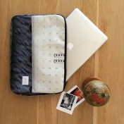 Upcycled Billboard Laptop Sleeve – 15 inch – Made To Order