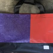 Upcycled Billboard Vinyl Shopper Bag – Large